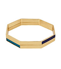 Kenneth Cole® Blue Geometric Bangle Bracelet Set