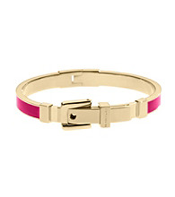 Michael Kors® Goldtone & Zinnia Epoxy Buckle Bangle Bracelet