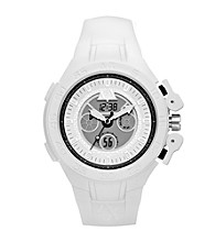 A|X Armani Exchange Men's White Active Analog-Digital Watch