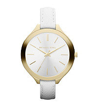 Michael Kors® White Slim Runway Watch
