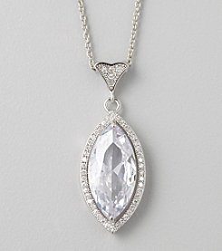 Designs by FMC Clear Cubic Zirconia Marquise-Cut Pendant