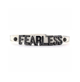 BCBGeneration™ White & Hematite Fearless Mini Affirmation Bracelet
