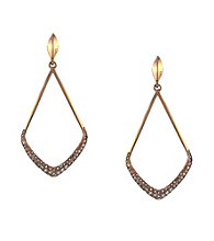 Vince Camuto™ Speakeasy Basics Rose Goldtone Kite Earrings