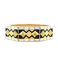 Vince Camuto™ Deco Items Goldtone and Black Hinge Bracelet