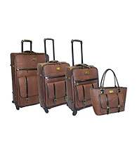 Adrienne Vittadini® Matte Croco II 4-pc. Luggage Set