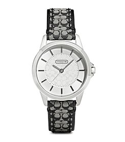 COACH BLACK CLASSIC SIGNATURE STRAP WATCH