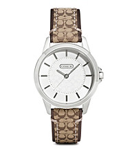 COACH CLASSIC SIGNATURE STRAP WATCH