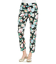 NY Collection Floral Printed Pant
