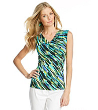 Evan-Picone® Printed Knit Top