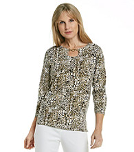 Cathy Daniels® Scoopneck with Embellished Necklace Top