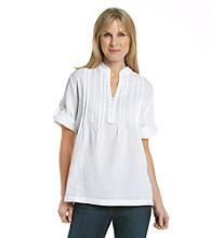 Cathy Daniels® Tunic Top with Front Tucking Crochet