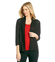 Notations® Open Front Point Cardigan