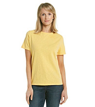 Breckenridge® Short Sleeve French Knot Embellished Crewneck Tee
