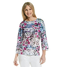 Breckenridge® Floral Printed Sublimation Tee