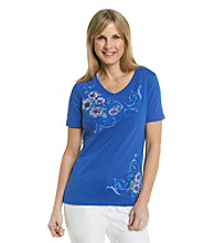 Breckenridge® V-Neck Embellished Tee