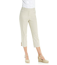 Studio Works® Button Hem Cropped Pant