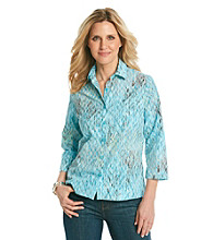 Studio Works® Petites' Woven Ocean Chain Shirt