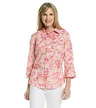 Studio Works® Woven Coral Carnation Shirt