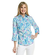 Studio Works® Woven Purple Wildflower Shirt