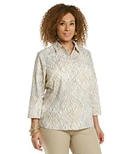 Studio Works® Plus Size Woven Yellow Chain Shirt