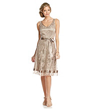 Tahari by Arthur S. Levine® Lace Ribbon Hem Dress