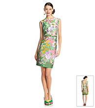 Muse Cut Out Back Floral Sheath