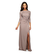 Alex Evenings® Long Illusion Dress