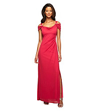 Alex Evenings® Long Drapeneck Dress