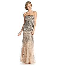 Adrianna Papell® Strapless Long Beaded Gown