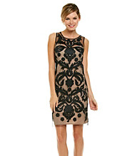 Marina Applique Mesh Lace Dress