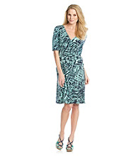 Evan-Picone® Printed Side Tie Dress