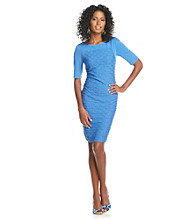 London Times® Pucker Knit Sheath Dress