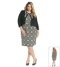 Jessica Howard® Plus Size Applique Sweater Dress