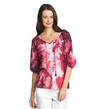 Nine West Jeans Posh Tie-Dye Blouse