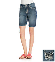 Nine West Jeans Magnolia Embellished Back Pocket Bermuda Short