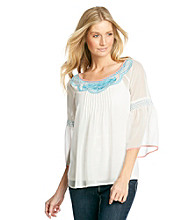Nine West Vintage America Collection® Costa Embroidered Peasant Top