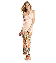 Oneworld® Plunge V-Neck Maxi Dress