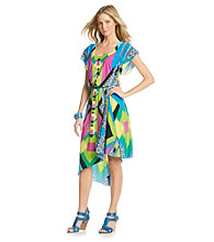 Oneworld Geo-Print Hi-Lo Hem Dress