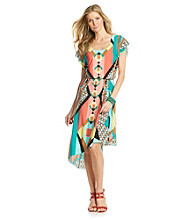 Oneworld® Geo-Print High-Low Hem Dress