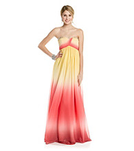 Rampage® Juniors' Ombre Strapless Dress