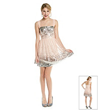 Emerald Sundae® Juniors' Blush Sequin Party Dress