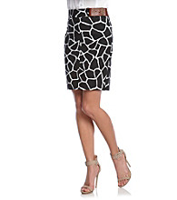 MICHAEL Michael Kors® Giraffe Print Pencil Skirt with Belt Detail
