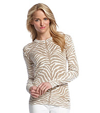 MICHAEL Michael Kors® Zebra Print Inside Out Sweater