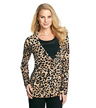Anne Klein® Animal Print Cardigan