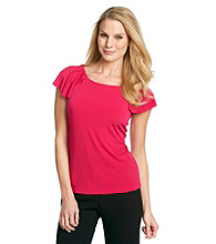 Anne Klein Flutter Sleeve Top