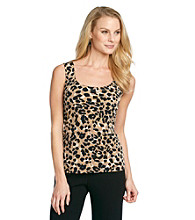 Anne Klein® Animal Print Scoopneck Tank