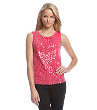 Calvin Klein Pleat Neck Sequin Cami