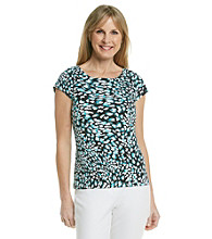 Laura Ashley® Painted Animal Balletneck Tee
