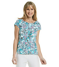 Laura Ashley® Petites' Balletneck Tee