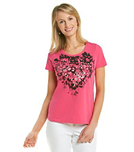 Laura Ashley® Pink Rose Applique Tee